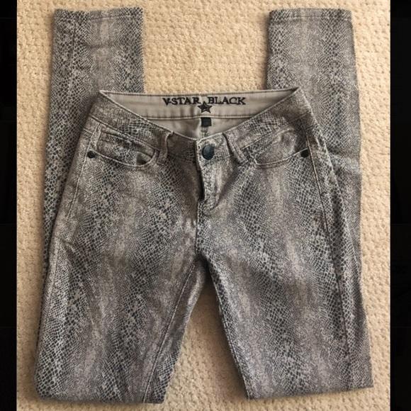 Vanilla Star Denim - Snake Skin Printed Skinny Jeans
